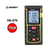 SNDWAY SW-E70 70 M Portatif Laser Distance Mètre Télémètre Trena Laser Télémètre Laser Ruban Mesure Distance Outil...