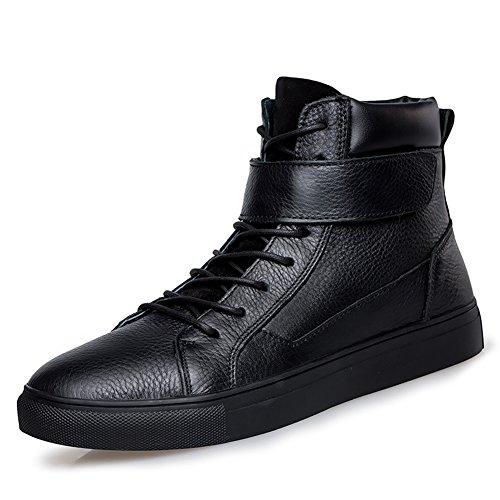 Chaussure de Homme bottes et boots en acier fermeture lacet cheville chaude Velours Desert bottine Adulte automne hiver Noir
