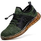 COOU Zapatos Seguridad Hombres Ligeros Transpirables Calzado Seguridad Deportivo Mujer Puntera...