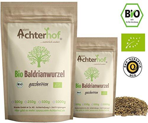 Baldrianwurzel BIO (250g) | Baldrian Wurzel getrocknet | Baldriantee | organic Valerian Root Cut vom Achterhof