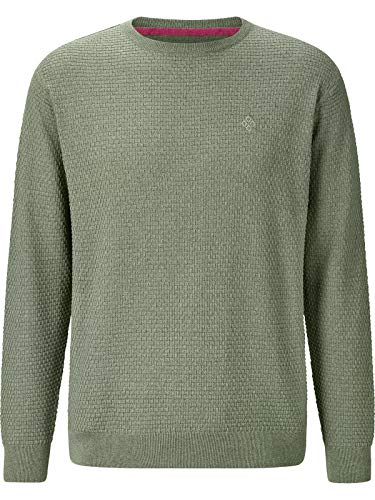 Charles Colby Herren Pullover Corwin (Business-Pullover, Casual-Pullover) grün 4XL (XXXXL) - 68/70