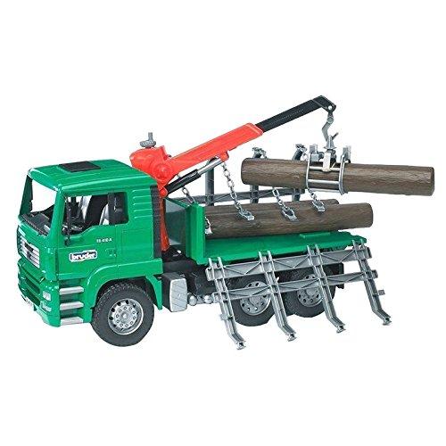 bruder 02769 Toys Man Holztransport LKW mit Ladekran (Lkw-kran)