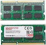 Komputerbay 8Go (2x 4Go) DDR3 SODIMM (204 pin) 1066Mhz PC3-8500 (7-7-7-20) PC...
