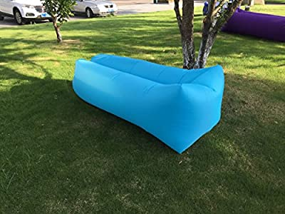 Inflatable Lounger Couch with Carry Bag Beach Lounger Air Sofa Inflatable Couch Bed Pool Float for Indoor/Outdoor Hiking Camping,Beach,Park,Backyard Waterproof Durable - cheap UK light shop.