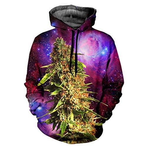 FGVBWE4R Harajuku Herren Kapuzenpullover 3D-Druck Coral Weed Galaxy Hoodie Männer Hiphop Pullover Outfits Lässige Paar Sweats Tops Zeigen, L