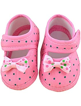 ❆HUHU833 Neugeborene Säuglingsbaby Mädchen Soft Crib Schuhe Kleinkind Schuhe, Krippe Schuhe, Bowknot Stiefel Soft...
