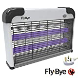 Fly-Bye - Insect Killer 20W UV Light - Attract and Zap Flying Insects - The Power of a Commercial Zapper Made for The Home - 2800v Killing Mesh Grid, with Detachable Hanging Chain - [New for 2019]