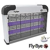 Fly-Bye Insektenvernichter - Bite Away UV Licht Mückenschutz - 2800v Hochspannungsgitter mit Abnehmbarer Hängekette und Selbstklebendem Deckenhaken - UK-Stecker