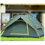 Aluminiumpfosten Outdoor-Camping-Zelt 3-4 Personen-Zelt doppelte hydraulische automatische Geschwindigkeits geöffnet Camping Zelten