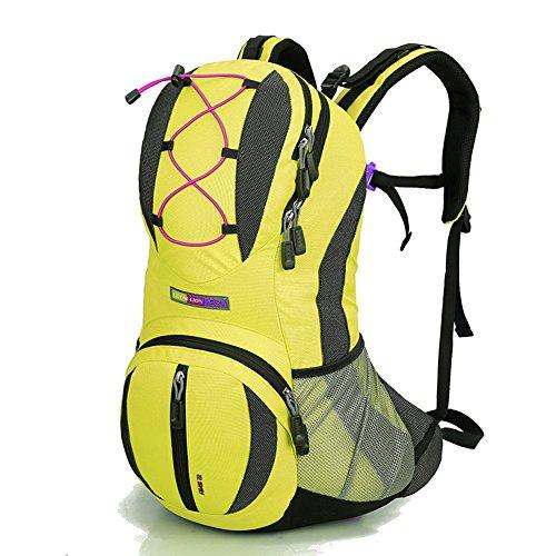 Diamond Candy Zaino da Trekking Outdoor Donna e Uomo con Protezione Impermeabile per alpinismo arrampicata equitazione ad Alta Capacitš€ borsa da viaggio,Multifunzione,22 litri Giallo