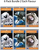 Astronaut Food Freeze-Dried Ready To Eat Space Food Ice Cream 3 Flavour Variety Bundle - 6 Packets