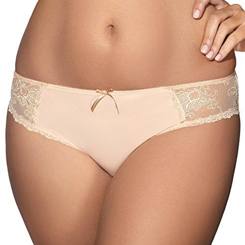 Ava 1393 Slips Damen Unterhosen Dessous Unterwäsche Stickerei Setteil Top Qualität EU Beige