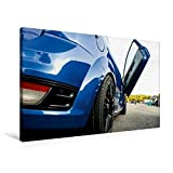 Premium Textil-Leinwand 90 cm x 60 cm quer, Ford Focus Flügeltür | Wandbild, Bild auf Keilrahmen, Fertigbild auf echter Leinwand, Leinwanddruck (CALVENDO Mobilitaet)