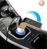 #4: JDR Bluetooth Transmitter Adapter KIT 5V/2.5A USB with Turbo Charging/LED Screen/FM Transmitter/ Memory Card Support/Noise Reduction-Call Accept & disconnect feature/ Built in smart chip to control voltage fluctuation - FREE AUX Cable (Assorted Color)