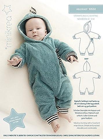 Schnittmuster Strampel-Anzug für Neugeborene & Babys / Gr. 50-74cm / 1x0550