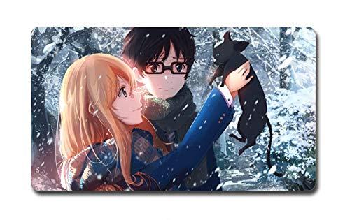Dos yuanes Anime Alfombrilla ratón Teclado Grande