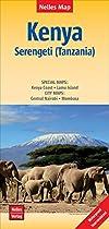 Kenya / Serengeti /Tanzania Map - Nelles Verlag