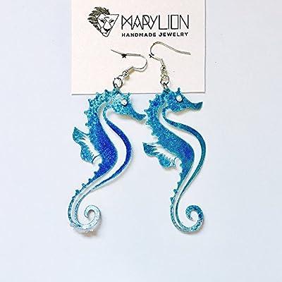 Boucles d'oreille hippocampes - Bijoux nautiques - Boucles d'oreilles nautiques - Boucles d'oreilles de plage - Mariage de plage - Cadeau pour elle - Boucles d'oreille de hippocampe