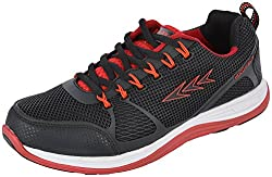 Columbus Mens Black/Red Synthetic Running Shoes - 7 UK