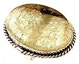 Los artesanos indie Natural Prehnite Anillo RUTILO Tamaño de la aguja 925 tamaño de superposición de piedras preciosas anillo Reino Unido Anillo para mujer R / anillo de la UE 58.75