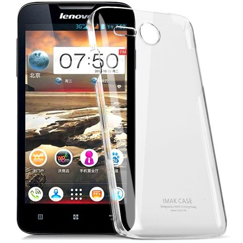 Heartly Imak Crystal Transparent Flip Thin Hard Bumper Back Case Cover For Lenovo A680  available at amazon for Rs.299