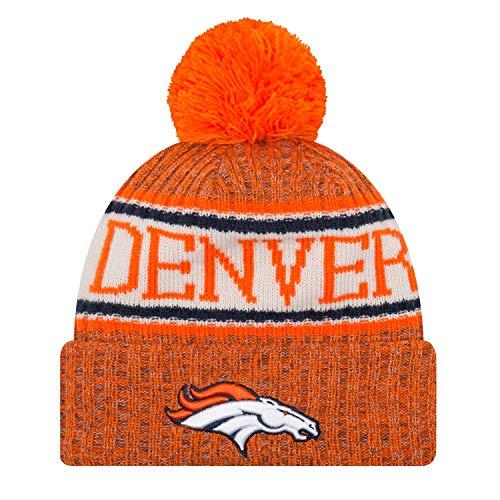 New Era ONF18 Sport Knit Bommelmütze Denver Broncos Orange, Size:ONE Size