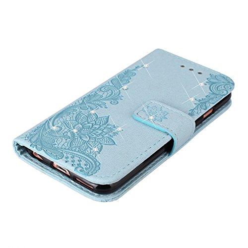 Slynmax Cover Apple iPhone 6s Plus / iPhone 6 Plus Custodia in Pelle Flip Case Cuoio Morbida Libro Magnetico Portafoglio Libro Bookstyle Wallet Stand Case Modello di Posta Design di Lusso + 1* Stilo S Bling #2