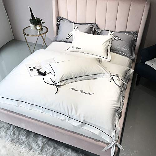 Luxe 100/% Coton Égyptien Plat Blanc Feuille Simple Double King Size Bed sheets
