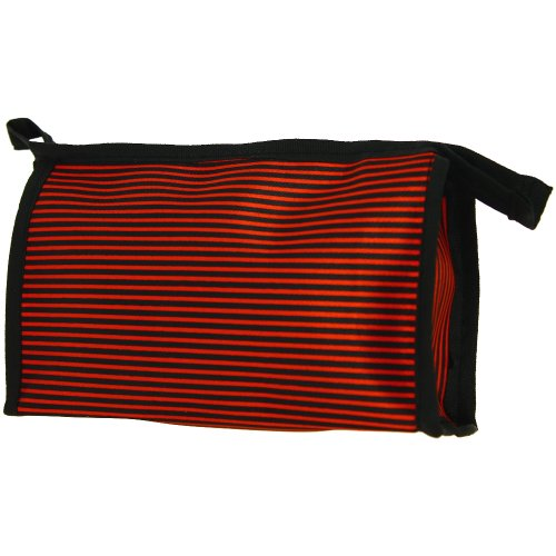 Promobo - Pochette Trousse de Maquillage Lignes City Rouge