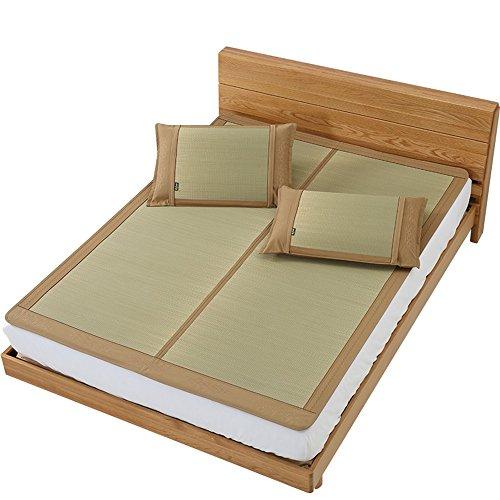 YNN Sommer-Rattansitz-kühle Matte-einzelne Bett-zusammenklappbare EIS-Stroh-Matte kühl ohne das EIS glatt und Nicht raues zusammenklappbares Bügeln (größe : 1.8m (6 ft) Bed)