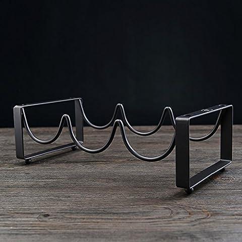 Yifom Vino rack in ferro battuto cantinette portabottiglie di vino idea bar ornamenti