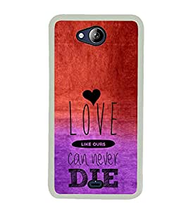 ifasho Designer Phone Back Case Cover Micromax Canvas Play Q355 ( I love Gurgaon Blue Wood Look )