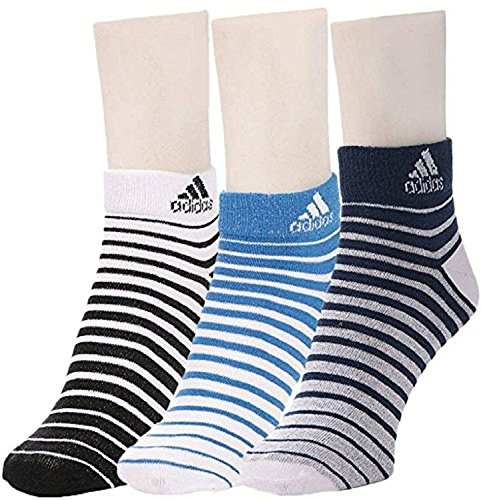 Adidas Flat Knit Low Cut Socks - Pack of 3 (Blue Depth/White/Strong Blue)  available at amazon for Rs.325