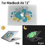MacBook Air Aufkleber, AKPATI Haut Aufkleber Removable Leuchtender Aufkleber Skin Laptop Decal Sticker Abdeckung Abziehbild für MacBook Air 13 Zoll - City Building Pattern