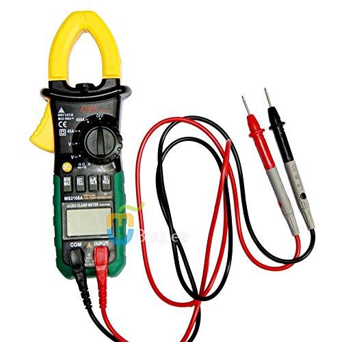 Buyee MS2108A Multimeter AC/DC Strommesszange Stromzange Strom Mini-Strommesszange mit Kapazität Tester