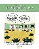 Schütze 2020: Sternzeichenkalender-Cartoonkalender als Wandkalender im Format 19 x 24 cm. -
