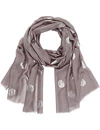 Comma CI Damen Schal 88801917101, Grau (Grey/Black Aop 94B4), One Size