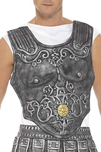 Brustpanzer Kostüm - Smiffys Herren Römische Rüstung Brustkorb, One Size, Grau, 21993