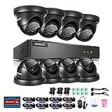 ANNKE Video Überwachungssystem, 8 Kanal 1080N TVI DVR Rekorder ohne Festplatte mit 8×720P Überwachungskameras, Bewegungserkennung mit E-Mail Alarm, H.264, Smart Playback,IR Nachtsicht CCTV Überwachung