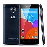 THL T6C 5 Zoll 3G-Smartphone Quad Cores 1.3GHz RAM 1GB + 8GB ROM Android 5,1 Dual SIM Handy ohne Vertrag 8.0M+2.0M Kamera WIFI GPS Schwarz