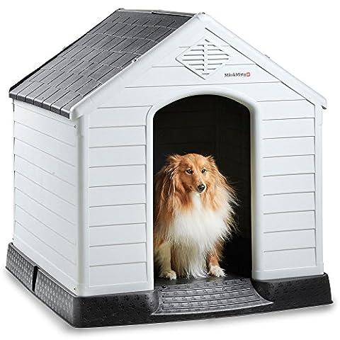 Milo & Misty Large Plastic Dog House - Outdoor Kennel for Pet Shelter