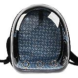 Conysan Innovative PanoramicTransparent Space Portable Pet Capsule,Traveler Cat Dog Carrier Shoulder Backpack,Dual-use as Pet Waterloo (Black)