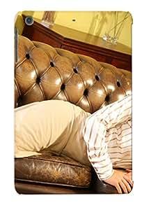 Housse étui 9e526266144–Melisa mendiny Canapé formelle pour femme filles brunee Sexy Babe Coque de protection compatible Apple iPad Mini/Mini 2
