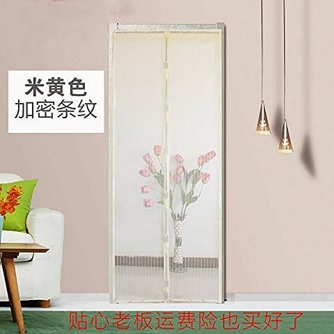 rugai-ue Weich Magnetische Mosquito Tür Bildschirm unsichtbar Fenster Vorhang tragen frei Verschlüsselung, beige