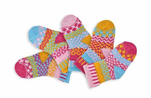 Chaussettes Solmate - Mesappartement Chaussettes Enfant. Deux Paires Avec Un Supplementaire. Fabrique Avec Des Fils De Coton Recycle Aux Etats-Unis. Calin Insecte Moyen