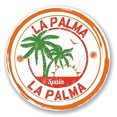 Preisvergleich Produktbild 2 x 10cm / 100mm La Palma Spanien Vinyl Selbstklebende Sticker Aufkleber Laptop Reisen Gepäckwagen Cool Zeichen Spaß 6101