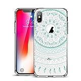 ESR Coque iPhone XS, Coque iPhone X Mandala, iPhone 10 Coque Silicone Transparente...
