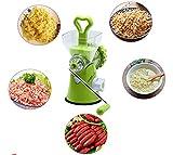 Zhuhaimei,Abnehmbare manuelle Mehrzweck Fleischwolf Gemüsemühle Wurst Küchenwerkzeug(Color:GRÜN)