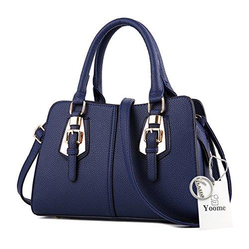 Borsa da donna Yoome per borse donna casual per donne borse da donna crossbody per ragazze Borsa elegante - Borgogna Blu scuro