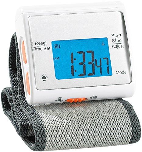 newgen medicals Armband Wecker: Vibrationswecker im Armbanduhr-Format (Armbanduhr Wecker Vibration)
